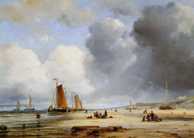 Beach View With Boats Ary Pleysier (1809-1879)